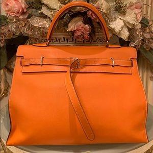 Hermès Kelly Flat Orange Bag